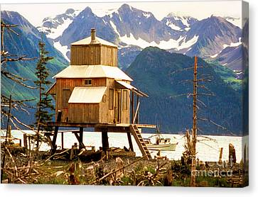 Seward Alaska House Of Stilts Canvas Print by James BO  Insogna