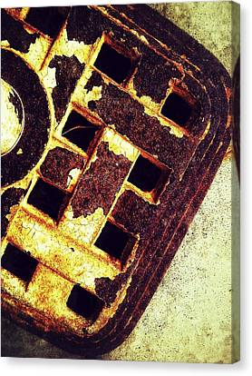 Sewer Drain Canvas Print by Olivier Calas