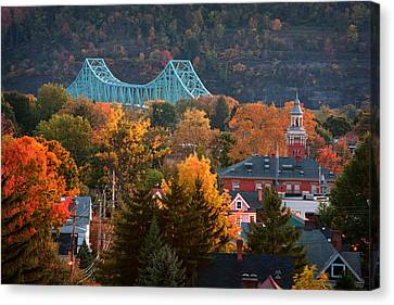 Allegeny River Canvas Print - Sewickley 6 by Emmanuel Panagiotakis