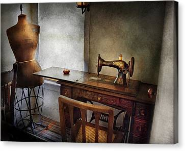 Sewing - A Tailors Life  Canvas Print by Mike Savad