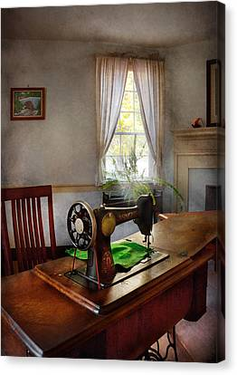 Sewing - My Sewing Room  Canvas Print by Mike Savad