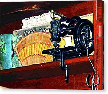 Sewing Machine Canvas Print - Sewing Machine For Sale by Susan Savad