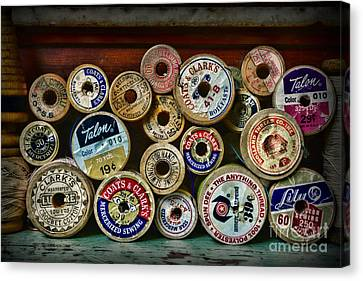 Sewing Spools Remember Them Canvas Print by Paul Ward