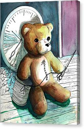 Sewn Up Teddy Bear Canvas Print