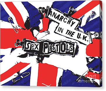 Sex Pistols No.02 Canvas Print by Caio Caldas