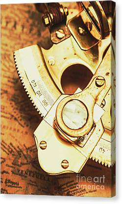 Navigation Canvas Print - Sextant Sailing Navigation Tool by Jorgo Photography - Wall Art Gallery