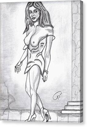 Sexy Babe Canvas Print by Richard Heyman