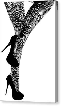 Sexy Legs In Stilettos Canvas Print