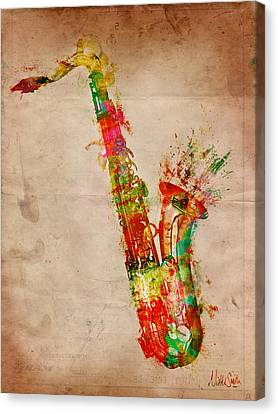 Melody Canvas Print - Sexy Saxaphone by Nikki Smith