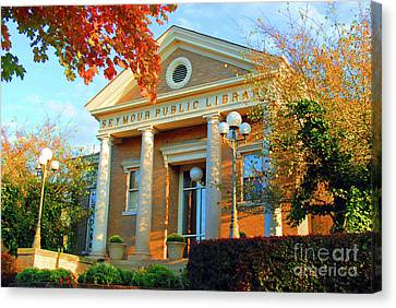 Seymour Public Library Canvas Print by Jost Houk