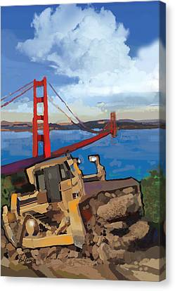 Sf And D9 Canvas Print by Brad Burns