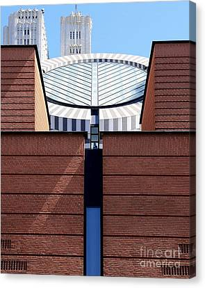 Sf Museum Of Modern Art Sfmoma Canvas Print by Wingsdomain Art and Photography