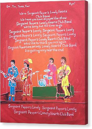 Sgt. Pepper's Lonely Hearts Club Band Reprise Canvas Print