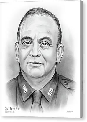 Police Canvas Print - Sgt. Steven Perez by Greg Joens