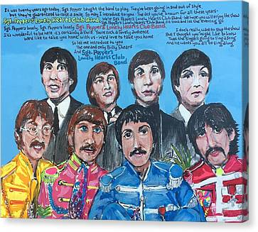 Sgt.pepper's Lonely Hearts Club Band Canvas Print