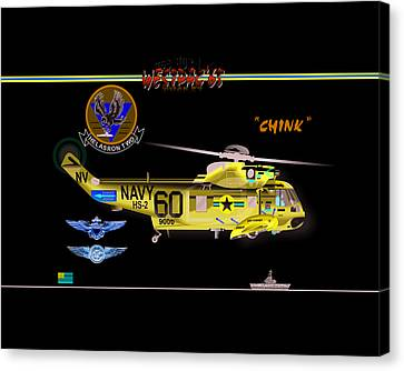 Sh-3a Seaking From Hs-2 Canvas Print