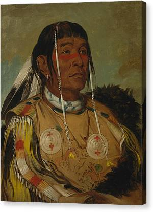 Sha-co-pay, The Six, Chief Of The Plains Ojibwa Canvas Print by George Catlin