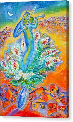 Shabbat Shalom Canvas Print by Leon Zernitsky