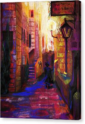 Shabbat Shalom Canvas Print by Talya Johnson