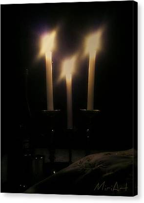 Shabbos Candles Canvas Print
