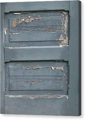 Shabby Blue Door Panels Canvas Print by Mg Blackstock