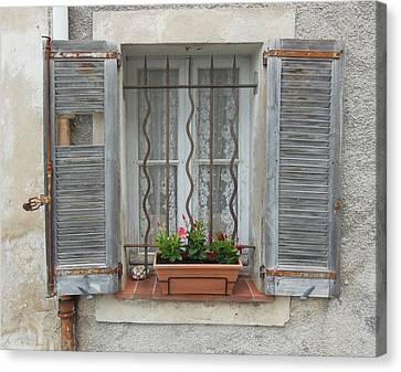 Shabby Elegant Window Canvas Print by Marilyn Dunlap
