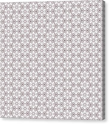 Shabby Pink Lace Canvas Print