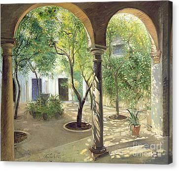 Shaded Courtyard, Vianna Palace, Cordoba Canvas Print