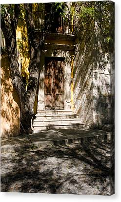 Shaded Entrance, Cobbled Road. Canvas Print by Rob Huntley