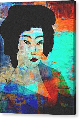 Geisha Girl Canvas Print - Shades Of A Geisha by Kathy Bucari