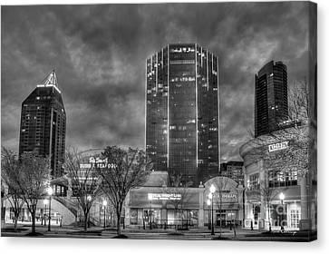 Shades Of Business Buckhead Financial District Atlanta Art Canvas Print by Reid Callaway