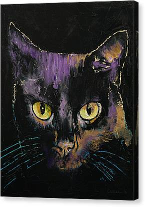 Shadow Cat Canvas Print by Michael Creese