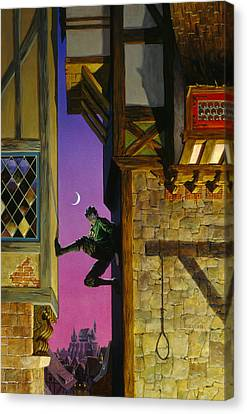 Shadow Climber Canvas Print by Richard Hescox