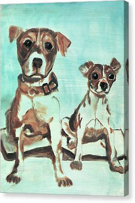 Shadow Dogs Canvas Print by Terry Lewey