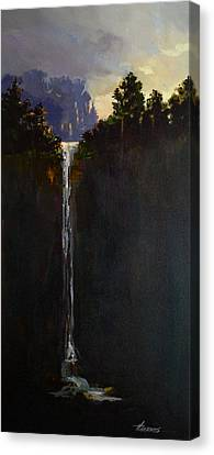 Canvas Print featuring the painting Shadow Falls by Helen Harris
