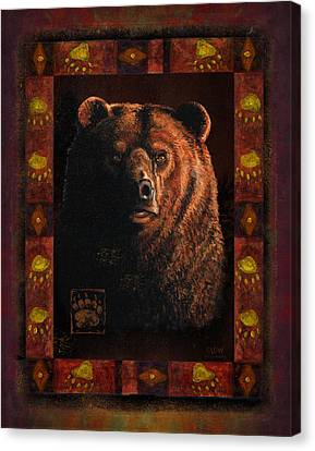 Shadow Grizzly Canvas Print