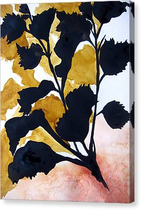 Shadow Hibiscus Canvas Print by Lil Taylor