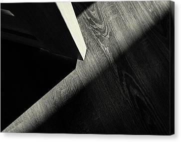 Canvas Print featuring the photograph Shadow Light Door Abstract One by John Williams