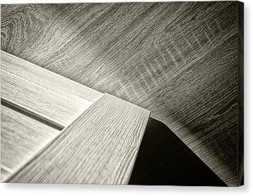 Canvas Print featuring the photograph Shadow Light Door Abstract Two by John Williams