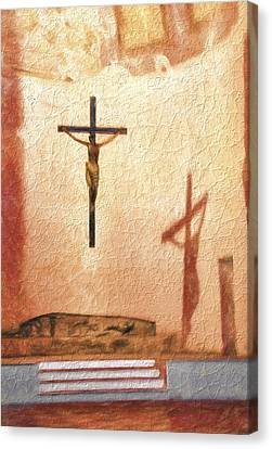 Shadow Of Christ Canvas Print
