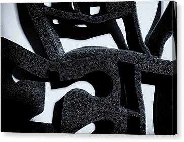 Canvas Print featuring the photograph Shadow Of Foam Abstract One by John Williams