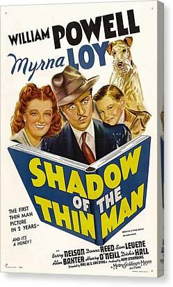 1941 Movies Canvas Print - Shadow Of The Thin Man, Myrna Loy by Everett