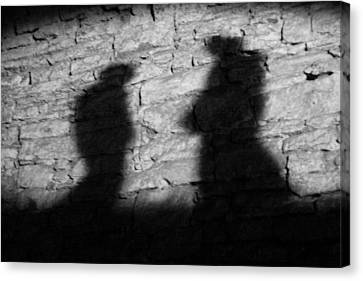Shadow On The Wall Canvas Print by Christine Till