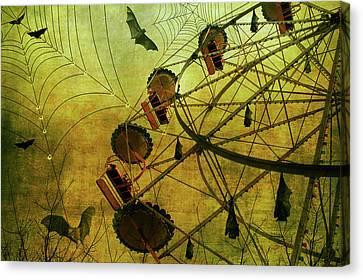 Canvas Print featuring the digital art Shadow Show by Margaret Hormann Bfa