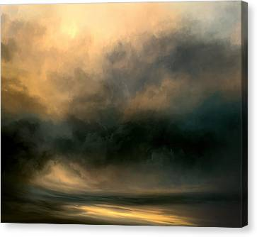 Stormy Canvas Print - Shadow Valley by Lonnie Christopher