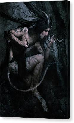 Supernatural Canvas Print - Shadow Veil II by Cambion Art