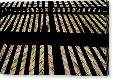 Shadows And Lines - Semi Abstract Canvas Print by Brian Wallace