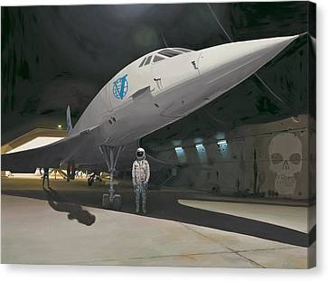 Astronauts Canvas Print - Shadows Of Dangerous Men by Scott Listfield