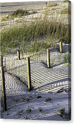 Shadows On The Dune Canvas Print