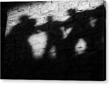 Shadows On The Wall Of Edinburgh Castle  Canvas Print by Christine Till